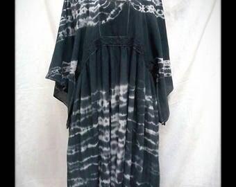 Black Cotton tie dye dress