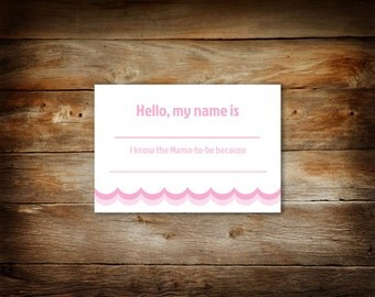 Baby Shower Name Tag   Guest Name Tags   I Know The Mommy To