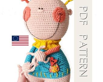 mon bonhomme -  ENGLISH PDF digital crochet Pattern