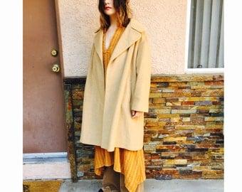 60's Camel brown long coat