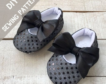 PDF Baby Girl Pattern- DIY Tutorial- fabric Mary Jane Shoes - Baby girls patterns, baby shoes patterns, girls patterns, newborns girls D
