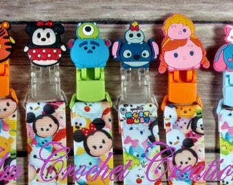 SALE** Tsum Tsum Pacifier Clips - ABDL/DDLG/Littles/Age Play