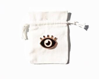 My Little Eye Pin, Rose Gold Enamel Pin, Lapel Pin, Hat Pin