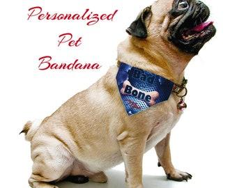 Custom Pet Bandana, Dog Bandana, Pet Scarf, Dog Scarf, Puppy Scarf, Cat Bandana, Personalized Pet Bandana, Pet Lover, 3 Sizes Available