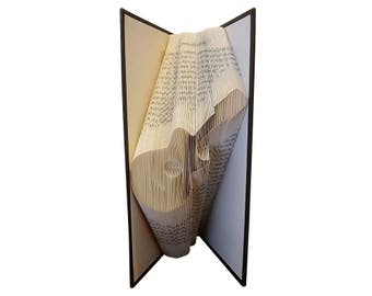 GUITAR - Folded Book Art - FREE SHIPPING - Electric Guitar - Acoustic Guitar - Book Fold - Music Book - Music Teacher Gift - Music Gift