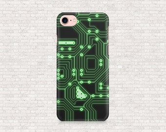 Circuit board computer geek iphone case - iPhone 7 case, iPhone 7plus case, iPhone 4, iPhone 4s, iPhone 5, iPhone 5s, iPhone 6, iPhone 6S