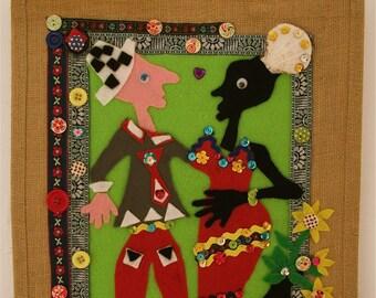 Christmas gifts,storage bag,beach bag,shopping bag,ladies cute handbag,big bag,tote,jute shopper,wall hanging,latin american art,big bag