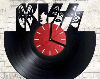 Vinyl wall clock Kiss Band