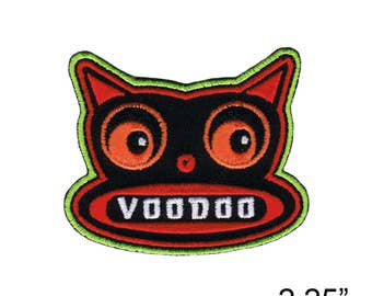 """ChicoVonSpoon's VooDoo Cat Iron On Patch 2.25"""" Free Shipping by Fuzzy Dude 2764"""