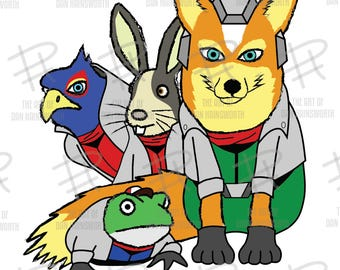 PRINT: Starfox & Friends