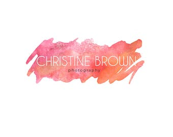 Custom LogoDesign, Photography Logo, watermark, Hand-written logo, Blog header, Photographywatermark, Watercolor logo