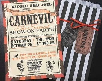 Carnevil Halloween Invitation