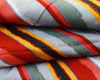 Dressmaking Fabric Cotton Fabric For Sewing Designer Multicolor 100%cotton sewimg fabric stripe printing for pillow cover by 1 yard ZBC6643