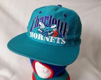 Vtg 90s Charlotte Hornets The Game snapback hat cap Larry Johnson Retro Dope 1 of 5000