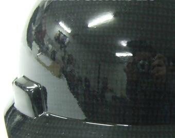 Black Full Brim Custom Hydrographic Hard Hat - MSA V-Gard with Fas Trac III Suspension, helmet, guard