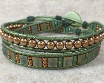 Sublime Double Wrap Beaded Bracelet