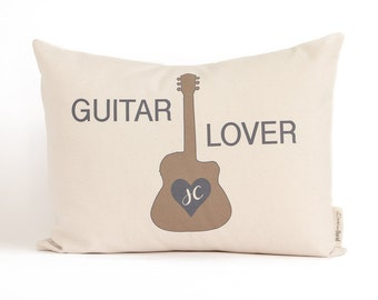 Guitar Player Gift, Housewarming Pillow,  Musician Gift, Music lover, Anniversary, Musical Decor, Guitar Player Pillow