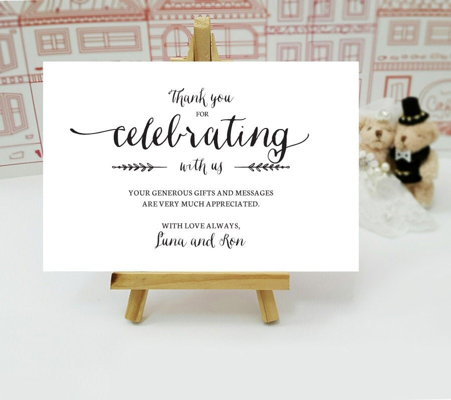 simple thank you notes printed thank you cards for wedding bridal