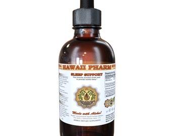 Sleep Support Certified Organic or Wild Harvested Valerian, Wild Lettuce, Blue Vervain, Hops Liquid Extract, Sleep Aid, Herbal Supplement