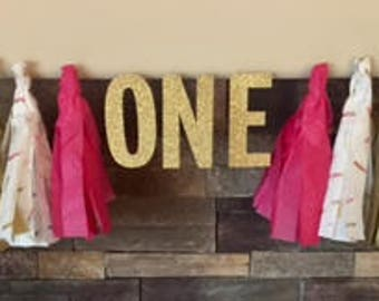 Tissue Paper Feather Birthday Garland/Banner
