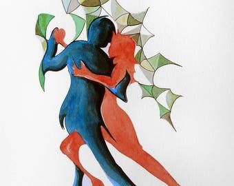 Pair of tango dancers