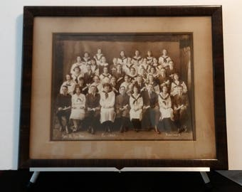 1922 Youngstown High School framed cabinet photo - Pick UP only