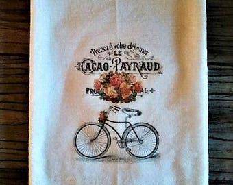 Paris Bicycle Flour Sack Towel