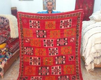 Sale 15% Spring Rug ,Vintage Colourful beni mguild CArpet , handmade