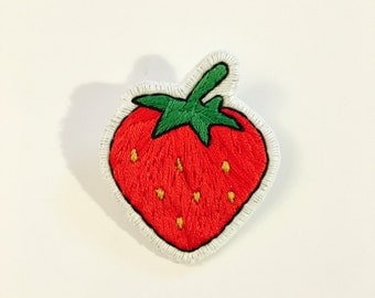Strawberry Pin/ Patch