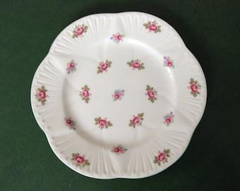 Shelley England Rosebud Pattern 7 inch Plate