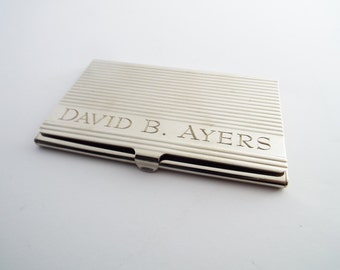 Engraved card holder etsy business card case personalized business card holder calling card holder custom visiting card reheart Gallery