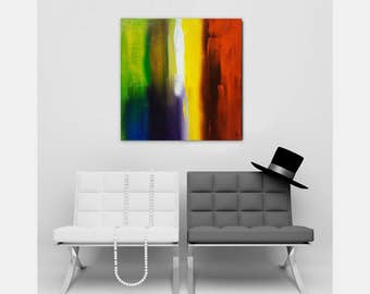 table square painting abstract contemporary modern single