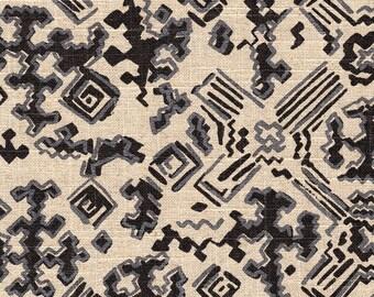 Decorative Pillow Nomad Geometric Granite Black Silver Metallic