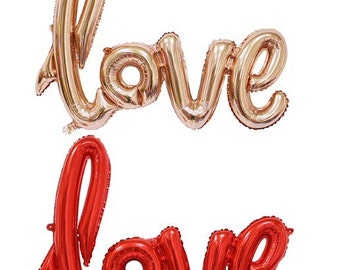 """40"""" rose gold love balloon banner bunting sign wedding party photo prop"""
