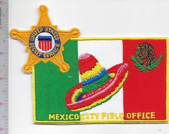 US Secret Service USSS Mexico City DF Foreign Field Office Agent Service Patch