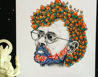 Terence McKenna A4 print.