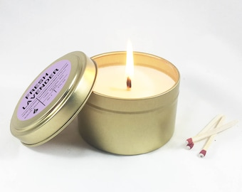 Fresh Lavender Tin Soy Candle (6 oz. )