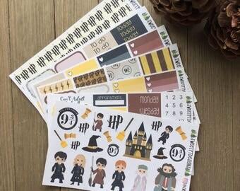 "Deluxe EC Vertical Weekly Sticker Planner Kit ""Harry Potter"" Themed"
