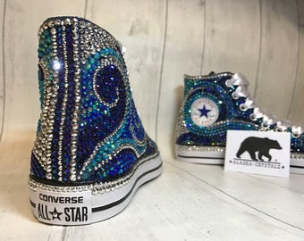 Fully customizable crystal converse, wedding converse, bridal converse, full crystal converse, luxury converse, prom shoes, wedding flats