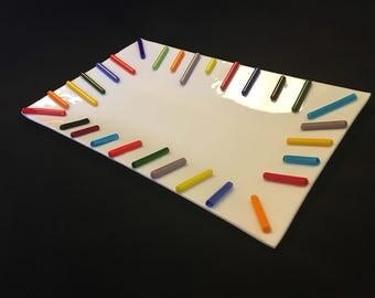 Metled Crayons Platter