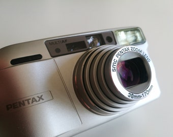 compact Pentax ESPIO 170SL - 38-170mm lens film camera + tested with film
