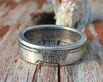 US Silver Quarter Ring - Choose Your State