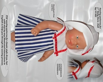 Doll Clothes PDF Pattern for 17'' Baby Born @Zapf  by NVME 17BB-3