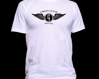 Gibson Guitar Logo T-shirt - More Color Choices - Ultra-Soft Ringspun Shirts