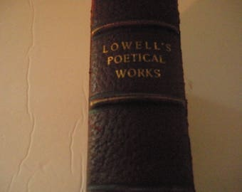Lowells Poetical Works ~ Lowell's Poems ~ Old Book ~ Red Book ~ Poetry ~ James Russell Lowell ~ Collectible Book ~ Book Decor ~ Vintage Book