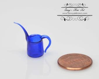 1:12 Dollhouse Miniature Blue Long Spouted Glass Pitcher/ Miniatures BD HB181