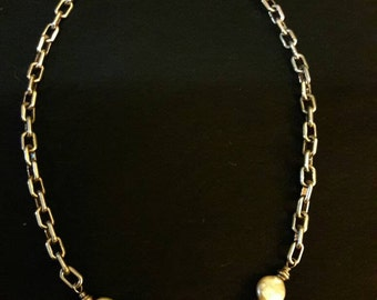 Sterling silver necklace with fresh water pearls