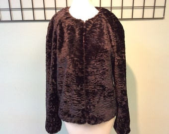 Black Persian lamb jacket
