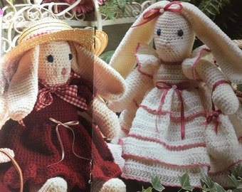 1992  PDF vintage crochet bunny rabbits  pattern, rabbits pattern