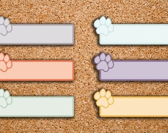 18 Pet Care, Dog Paw, Animal Care Label Planner Stickers for 2017 Inkwell Press IWP-S68
